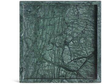 Dekotablett, Marmor, L:20cm x B:20cm, grün