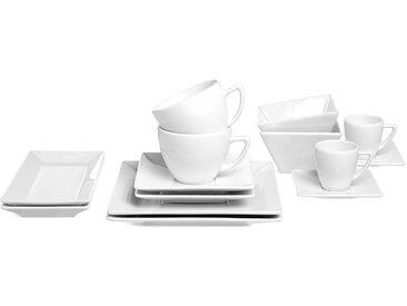 Frühstücksset Square, 2 Personen, 10-teilig, weiß