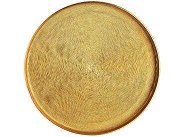 Dekotablett Glam, D:22cm, gold