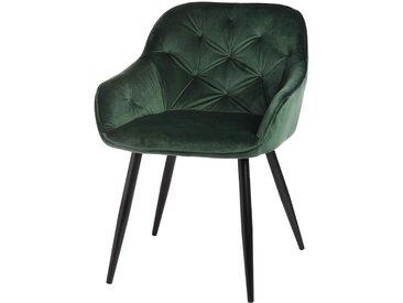 Samtstuhl, 56x62x78cm, dunkel-grün