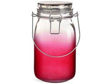 Solarleuchte Glas, D:11,5cm x H:21cm, pink