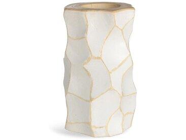 Teelichthalter, D:10cm x H:20cm, weiß
