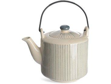 Teekanne Stripes mit Sieb, 1,1L, grau