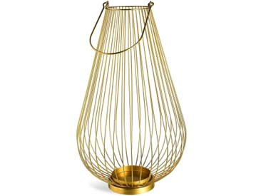 Laterne Modern, L:28cm x H:48cm, gold
