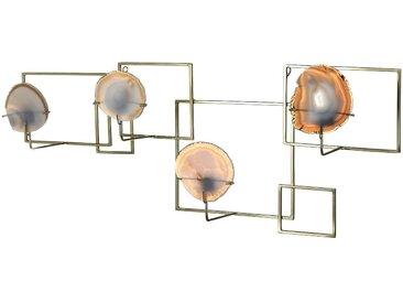 Wand-Teelichthalter Achat, L:83cm x B:32cm, gold