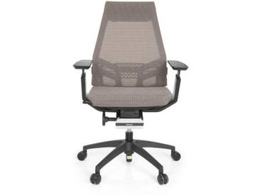 Bürostuhl / Drehstuhl GENIDIA SMART BLACK Netz grau hjh OFFICE