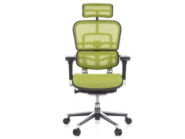 Bürostuhl / Chefsessel ERGOHUMAN Netzstoff grün hjh OFFICE