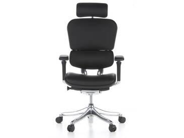 Bürostuhl / Chefsessel ERGOHUMAN PLUS Leder schwarz hjh OFFICE