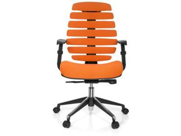 Bürostuhl / Drehstuhl ERGO LINE II Stoff orange hjh OFFICE