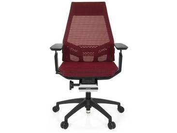 Bürostuhl / Drehstuhl GENIDIA SMART BLACK Netz rot hjh OFFICE