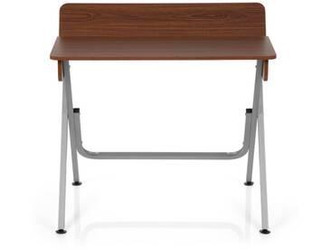 Computertisch / Schreibtisch BERNEO walnuss / silber hjh OFFICE