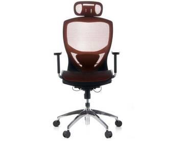 Bürostuhl / Chefsessel VENUS ONE Netzstoff orange hjh OFFICE