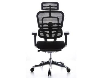 Bürostuhl / Chefsessel ERGOHUMAN PLUS Netzstoff schwarz hjh OFFICE