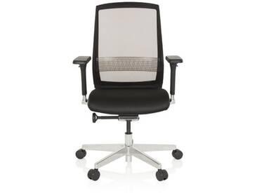 Bürostuhl / Drehstuhl FOUNTAINE Netzstoff transparent / Sitz Stoff schwarz hjh OFFICE