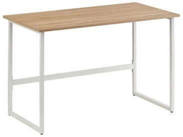 Schreibtisch / Computertisch WORKSPACE LIGHT Eiche hell / Weiß hjh OFFICE