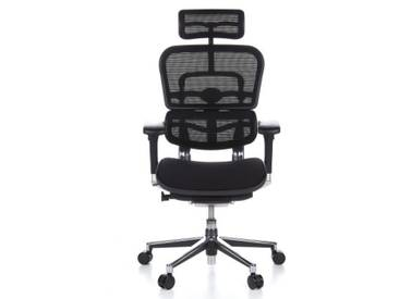 Bürostuhl / Chefsessel ERGOHUMAN Sitz Stoff / Rücken Netz schwarz Schreibtischstuhl hjh OFFICE