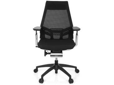 Bürostuhl / Drehstuhl GENIDIA SMART BLACK CM Netz schwarz AL Chrom hjh OFFICE