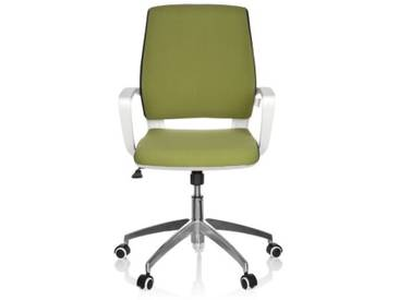 Bürostuhl / Drehstuhl ESTRA grün Gestell weiß hjh OFFICE