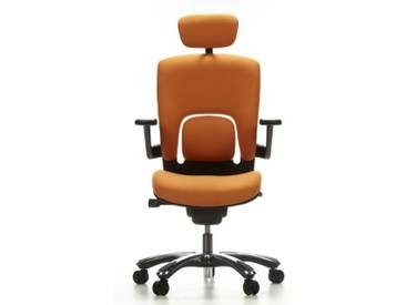 Bürostuhl / Drehstuhl VAPOR LUX Stoff orange hjh OFFICE