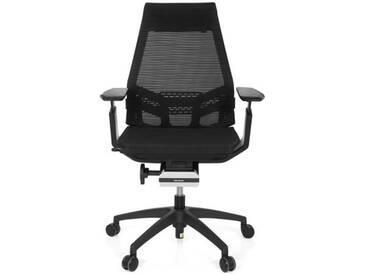 Bürostuhl / Drehstuhl GENIDIA SMART BLACK Netz schwarz hjh OFFICE