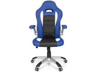 Gaming Stuhl / Bürostuhl RACER SPORT blau / schwarz hjh OFFICE