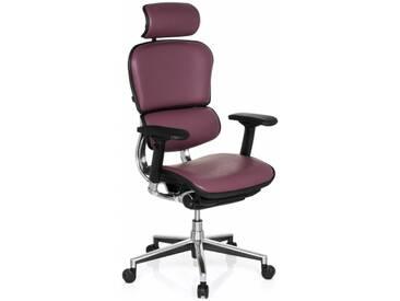 Bürostuhl / Chefsessel ERGOHUMAN Leder violett hjh OFFICE