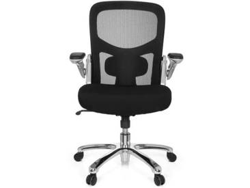 Schwerlaststuhl / Bürostuhl INSTRUCTOR S Silber XXL Netzstoff / Stoff schwarz hjh OFFICE