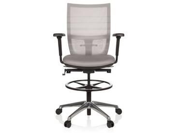 Arbeitsstuhl / Counterstuhl TOP WORK 98 Netzstoff grau hjh OFFICE