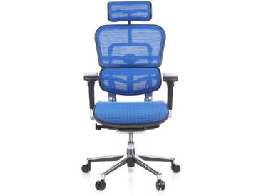 Bürostuhl / Chefsessel ERGOHUMAN Netzstoff blau hjh OFFICE