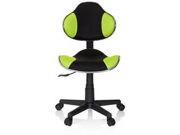Kinderschreibtischstuhl / Kinderstuhl KIDDY GTI-2 Stoff schwarz / grün hjh OFFICE