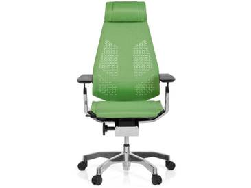 Bürostuhl / Drehstuhl GENIDIA PRO Netz grün hjh OFFICE