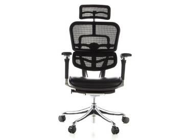 Bürostuhl / Chefsessel ERGOHUMAN PLUS Sitz Leder / Rücken Netz schwarz hjh OFFICE