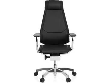 Bürostuhl / Drehstuhl GENIDIA PRO Leder schwarz hjh OFFICE