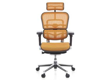 Bürostuhl / Chefsessel ERGOHUMAN Netzstoff orange hjh OFFICE