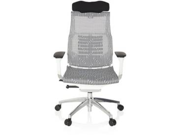 Bürostuhl / Chefsessel DYNAFIT WHITE Netzstoff grau hjh OFFICE