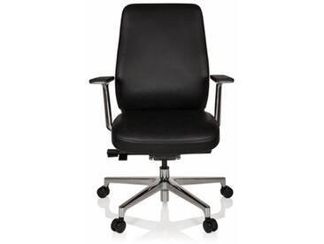 Bürostuhl / Chefsessel VERMONT Leder schwarz hjh OFFICE