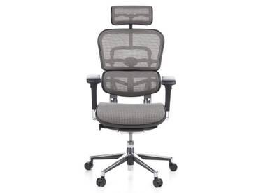 Bürostuhl / Chefsessel ERGOHUMAN Netzstoff grau hjh OFFICE