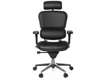 Bürostuhl / Chefsessel ERGOHUMAN BASE ONE Leder schwarz hjh OFFICE