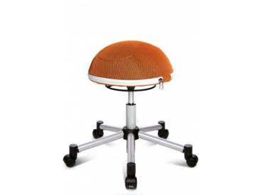 **Topstar Sitzball / Hocker SITNESS HALF BALL Netz silber/orange