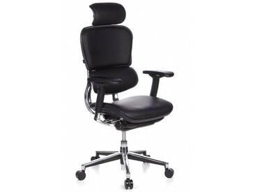 Bürostuhl / Chefsessel ERGOHUMAN Leder schwarz hjh OFFICE
