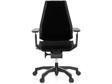 Bürostuhl / Drehstuhl GENIDIA BLACK Stoff schwarz hjh OFFICE