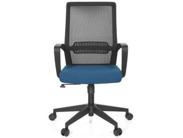 Bürostuhl / Drehstuhl PRESTON Netzstoff schwarz / blau hjh OFFICE