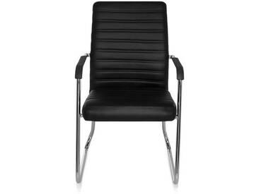 Konferenzstuhl / Kufenstuhl / Stuhl STEEL V PU schwarz hjh OFFICE