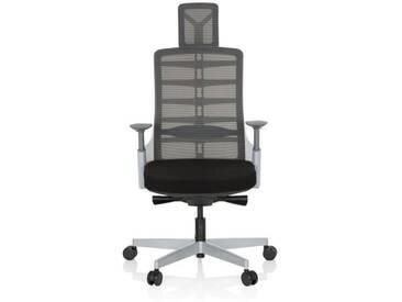 Bürostuhl / Drehstuhl SKARIF Netz / Stoff - weiss/grau/schwarz hjh OFFICE
