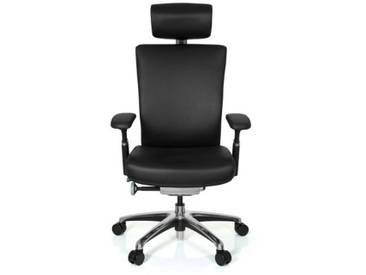 Bürostuhl NOVA Leder schwarz hjh OFFICE