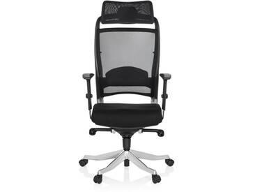 Bürostuhl / Drehstuhl IKAST Netz schwarz hjh OFFICE