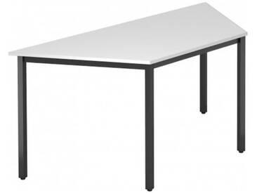 Konferenztisch mit Vierkant-Rohr schwarz DORAN 160 x 69cm Weiß