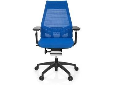 Bürostuhl / Drehstuhl GENIDIA SMART BLACK Netz blau hjh OFFICE