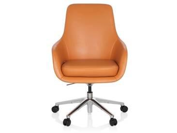 Bürostuhl / Chefsessel BARENO Leder orange hjh OFFICE