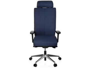 Bürostuhl / Drehstuhl PRO-TEC XXL Vollpolster blau hjh OFFICE